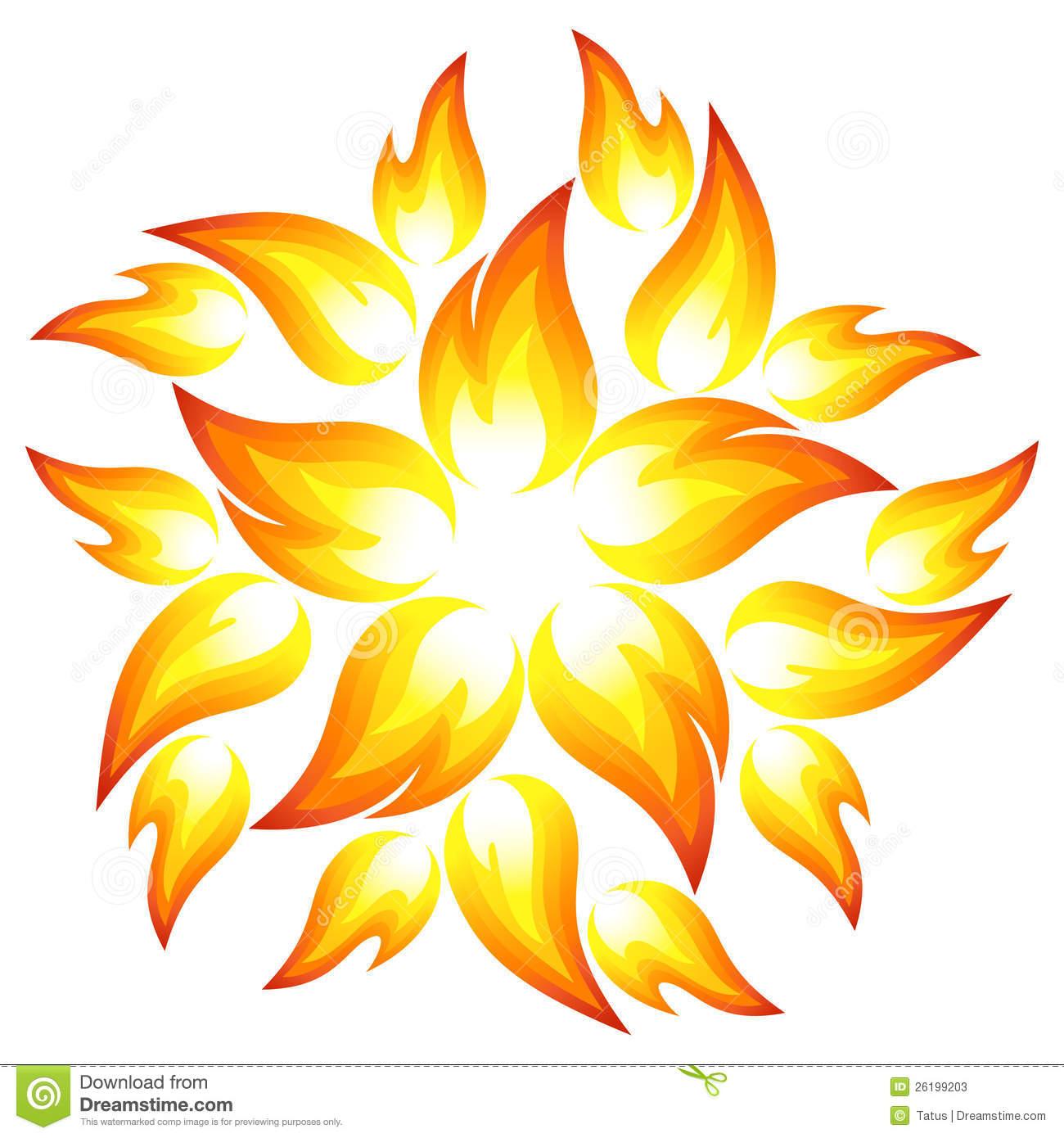 Fire Flower Stock Photos.