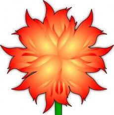 Fire Flower clip art.