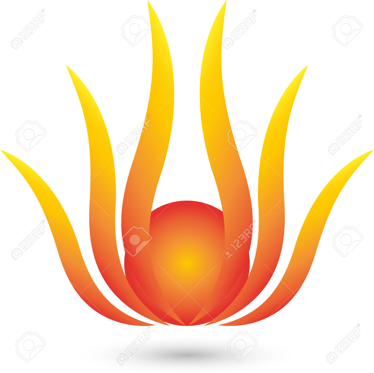 Fire Flower Logo, Plant, Sun Royalty Free Cliparts, Vectors, And.