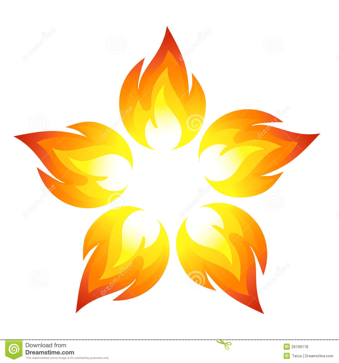 Fire Flower Royalty Free Stock Photos.