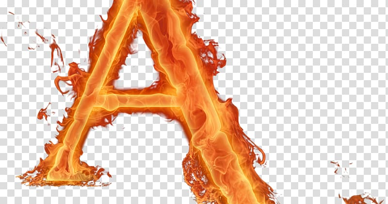 Alphabet Letter Fire Font, fire transparent background PNG.
