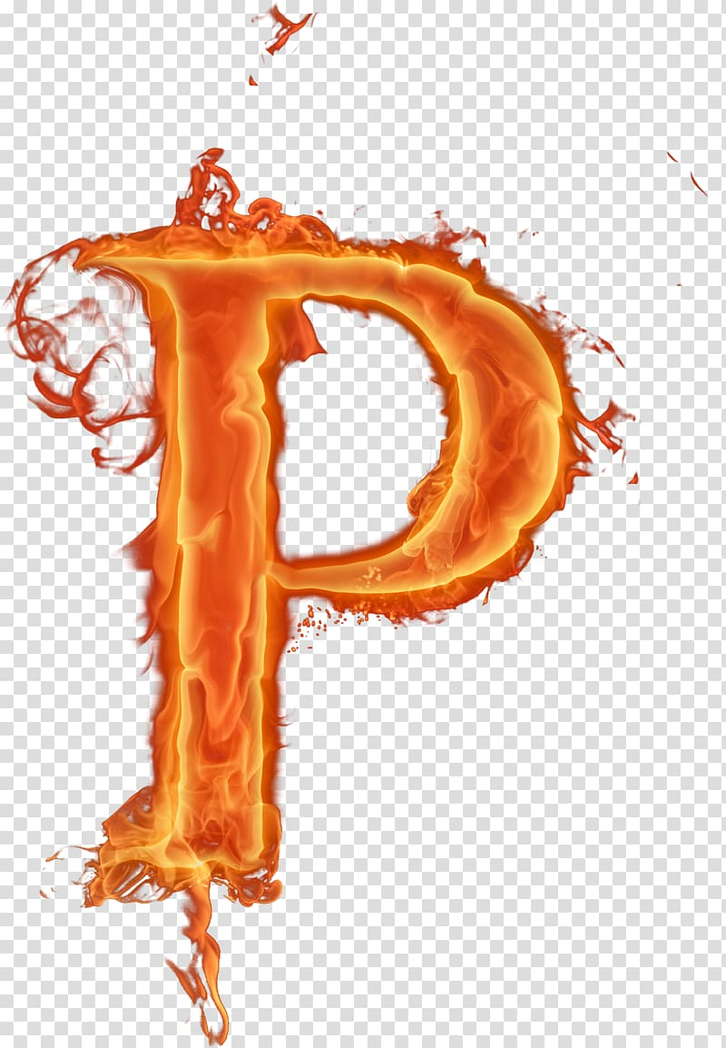 Red letter p illustration, Fire Letter Alphabet Font, Flame.