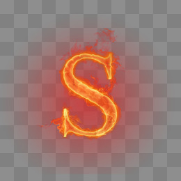 Flame Letter PNG Images.