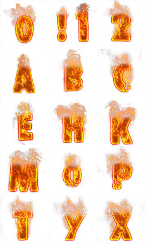 Fire Letters Png , (+) Pictures.