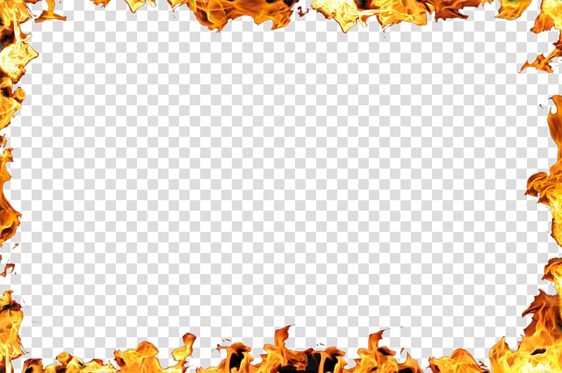 Yellow flame border , Flame Fire , Flame Border transparent.