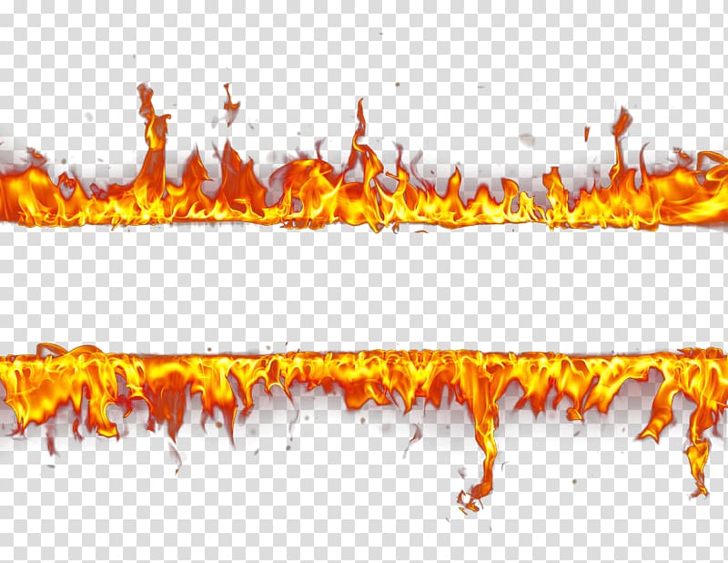 Red flames border , Fire , fire transparent background PNG.