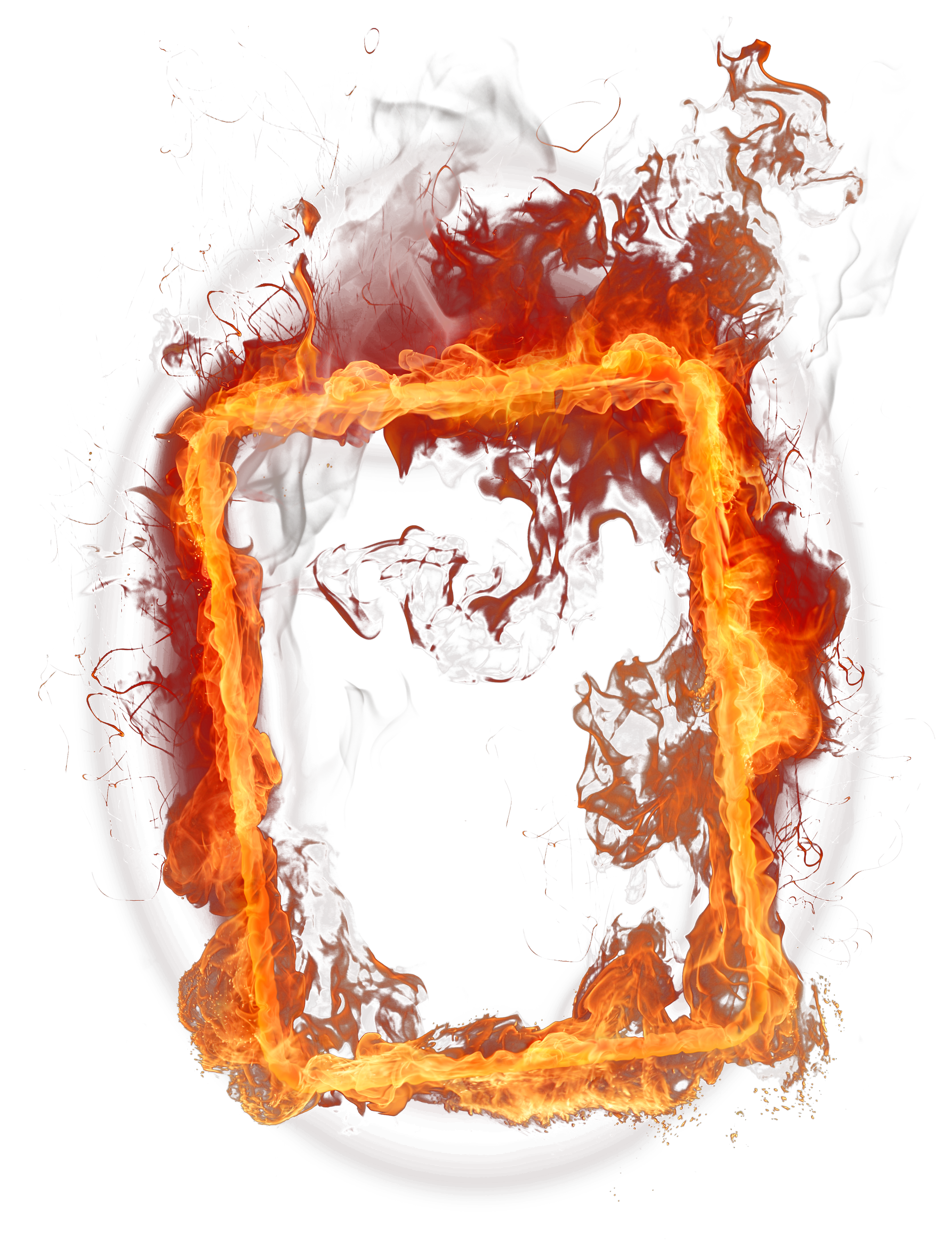 Fire Frame PNG Clipart.