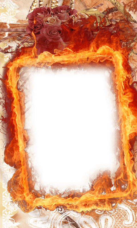 Fire Frame Png Vector, Clipart, PSD.
