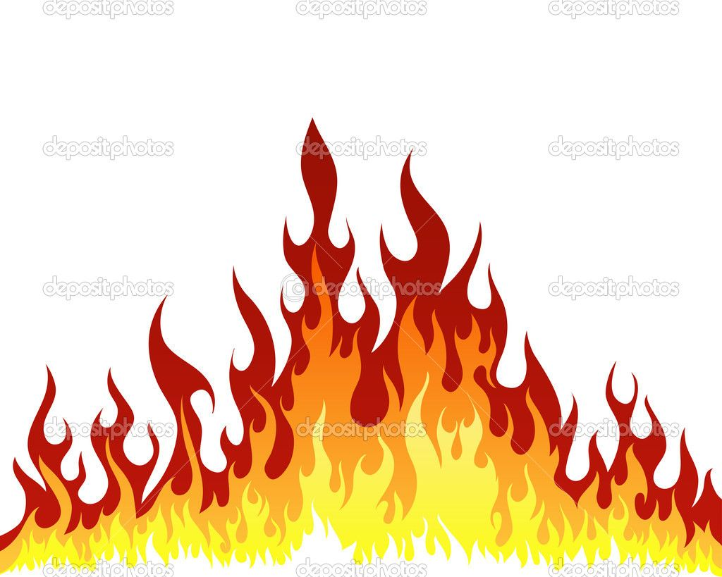 Fire background — Stock Vector © angelp #5243618 in 2019.