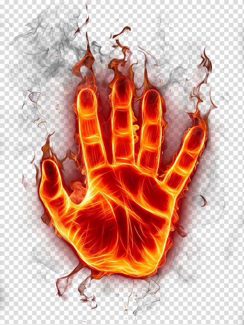 Fire Flame, Flame Hand, flaming hand illustration.