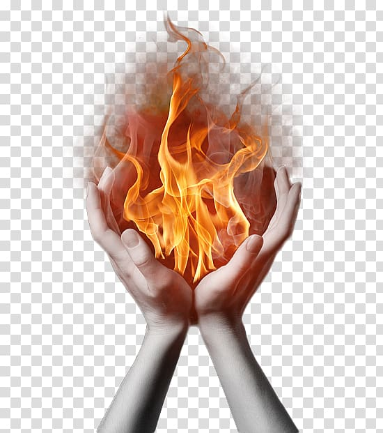 Hand and fire , Holy Fire Reiki Holy Spirit in Christianity.