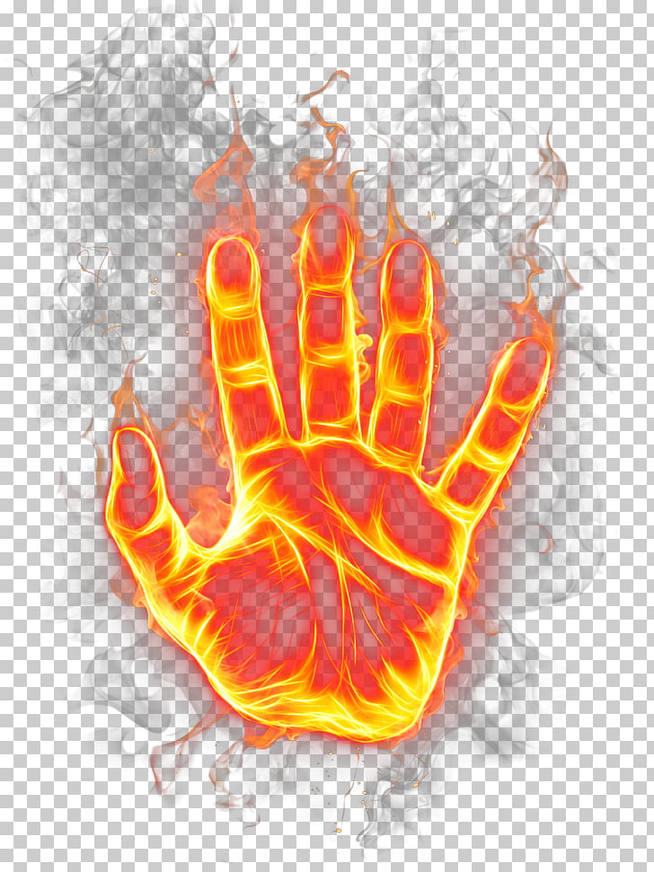 Flame Fire Icon, Agni palm, flaming hand PNG clipart.