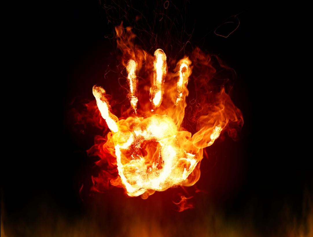 Fire hand clipart.