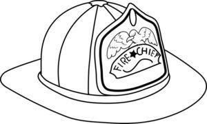 Fireman Hat Clipart Image.