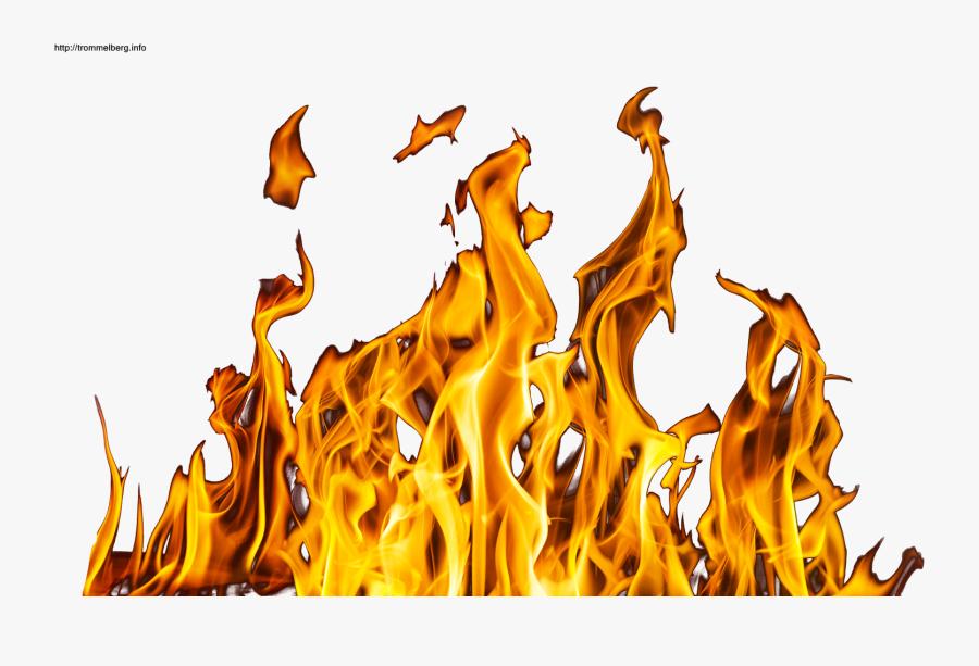 Transparent Realistic Fire Png.
