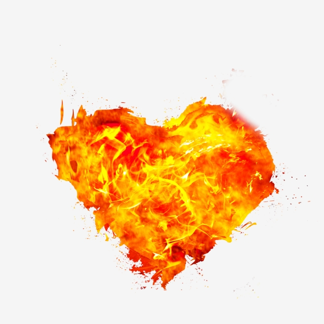 Fire Heart Clipart Png Transparent Background, Fire, Fire Png, Fire.