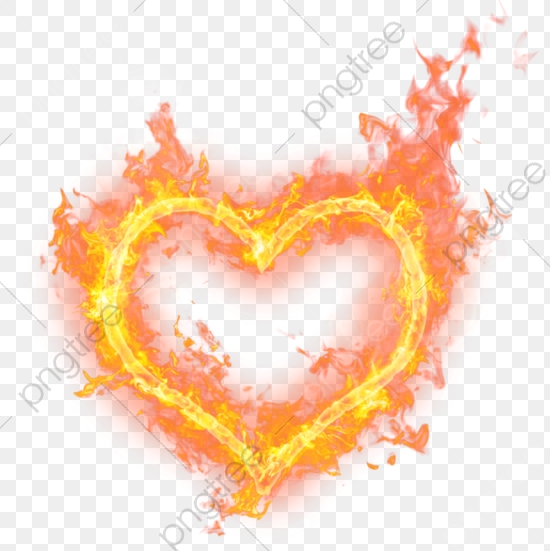 Heart Fire, Heart Clipart, Flame, Brilliant PNG Transparent Image.