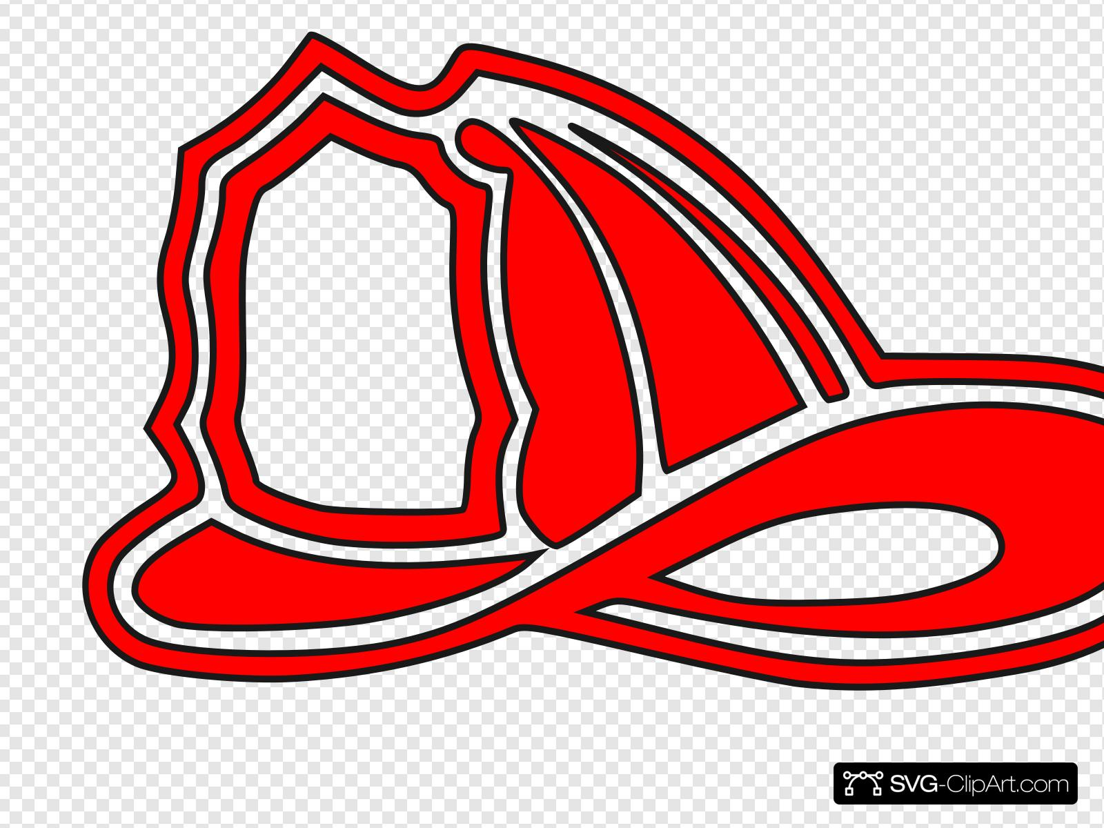 Red Fire Helmet Clip art, Icon and SVG.