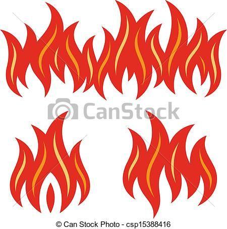 BBQ Flames Clip Art.