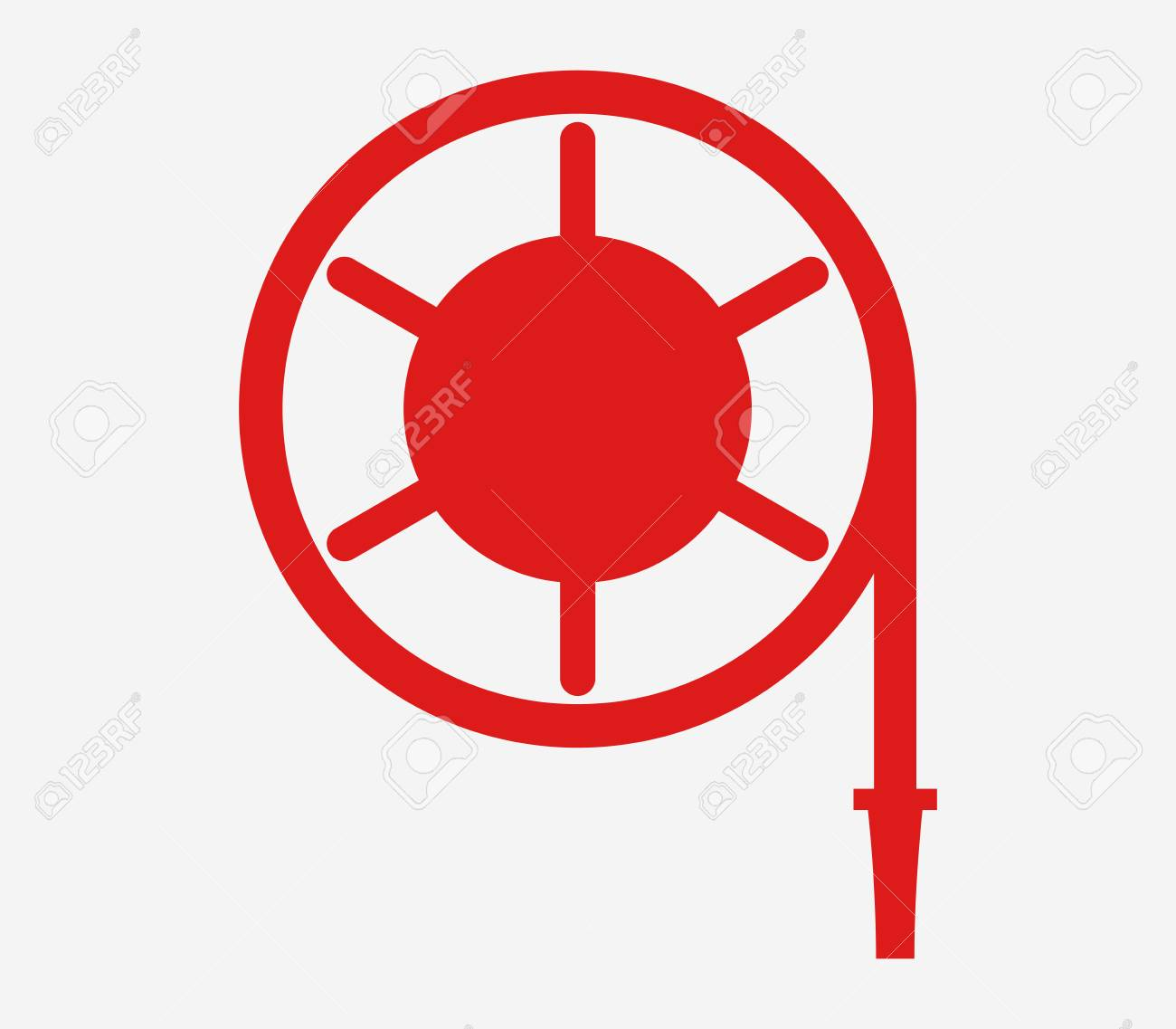 Icon fire hose reel.