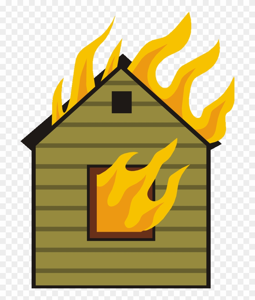 House Clipart Fire.