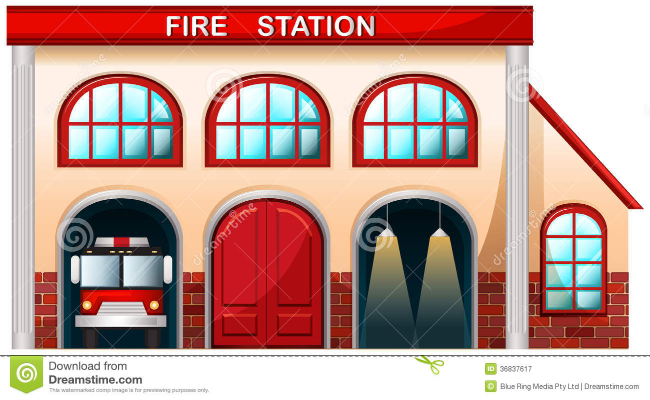 A Fire Station Building Royalty Free Stock Photography.
