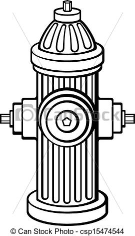 EPS Vector of Fire Hydrant csp15474544.