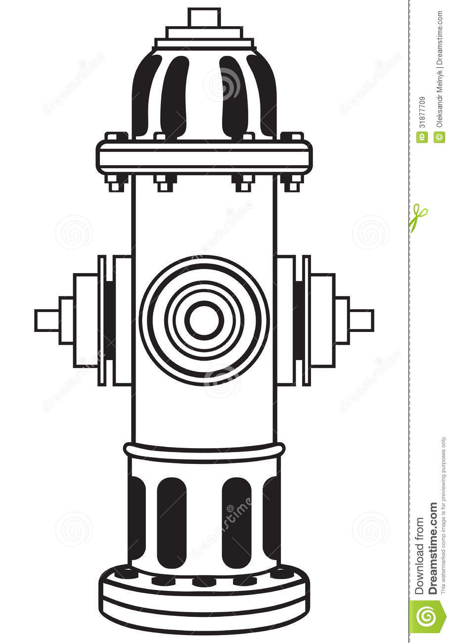 Fire hydrant clipart outline.