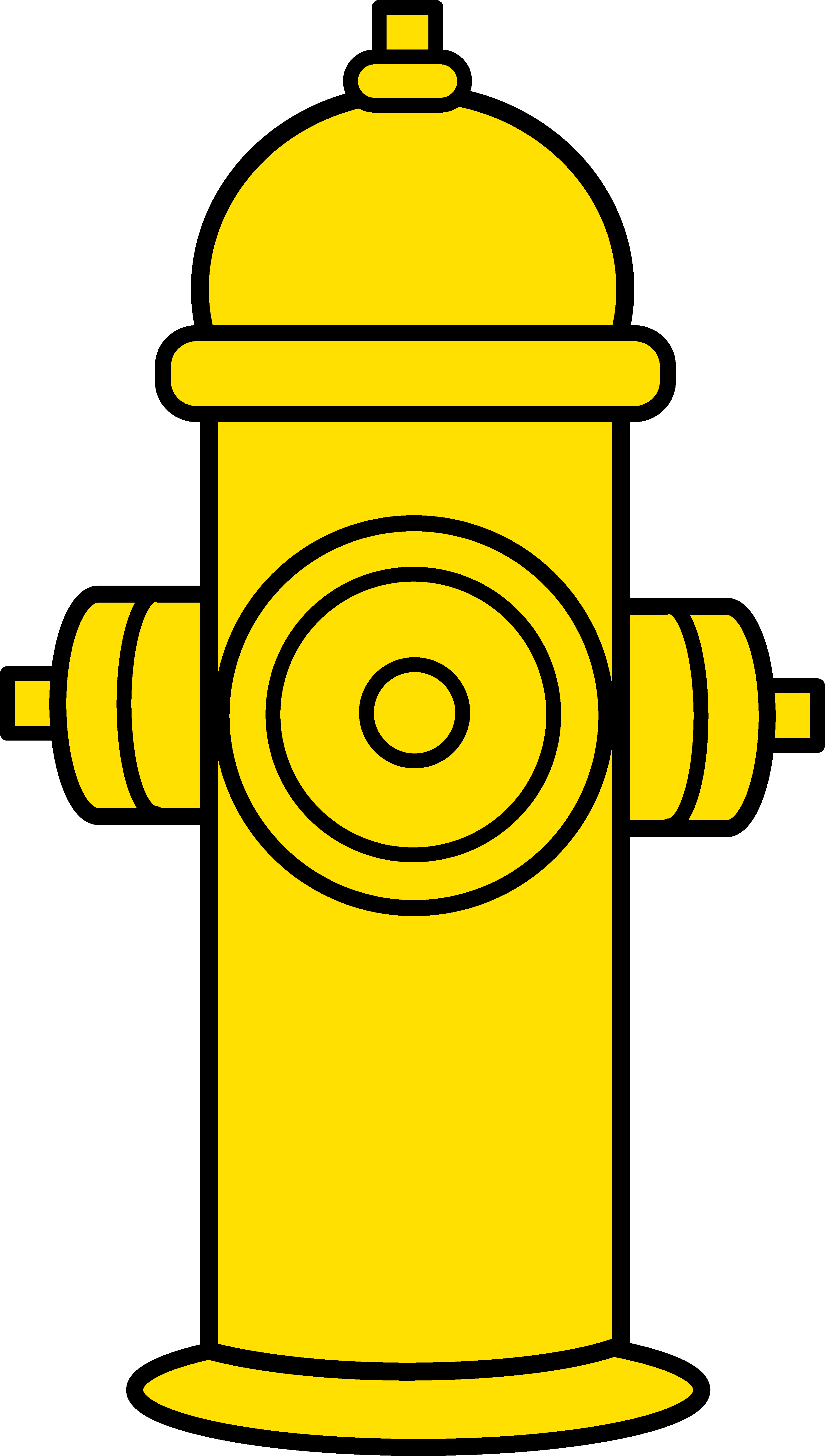 Yellow Fire Hydrant Clipart.