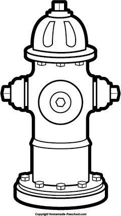 Fire hydrant clipart black and white 1 » Clipart Station.