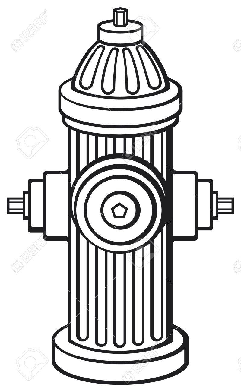 Fire hydrant clipart black and white 2 » Clipart Station.