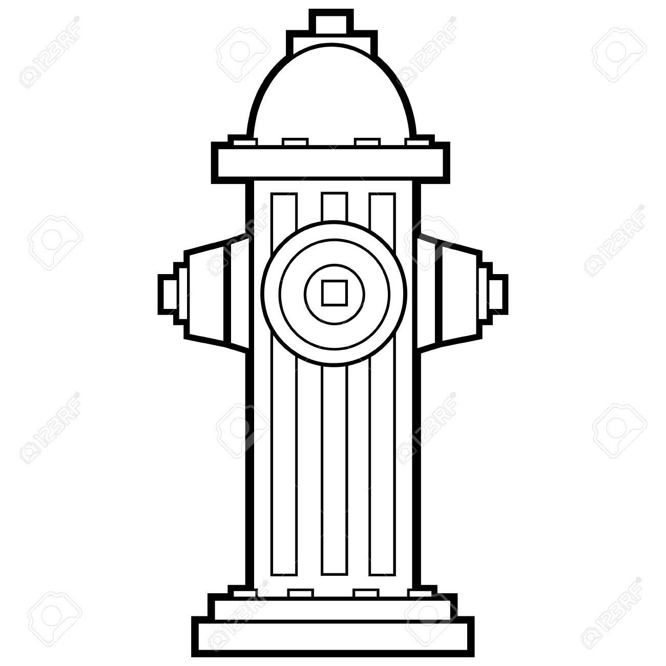 Fire hydrant clipart black and white 6 » Clipart Station.