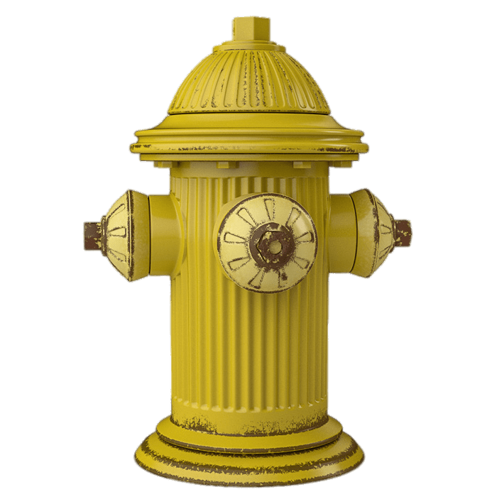 Yellow Fire Hydrant transparent PNG.