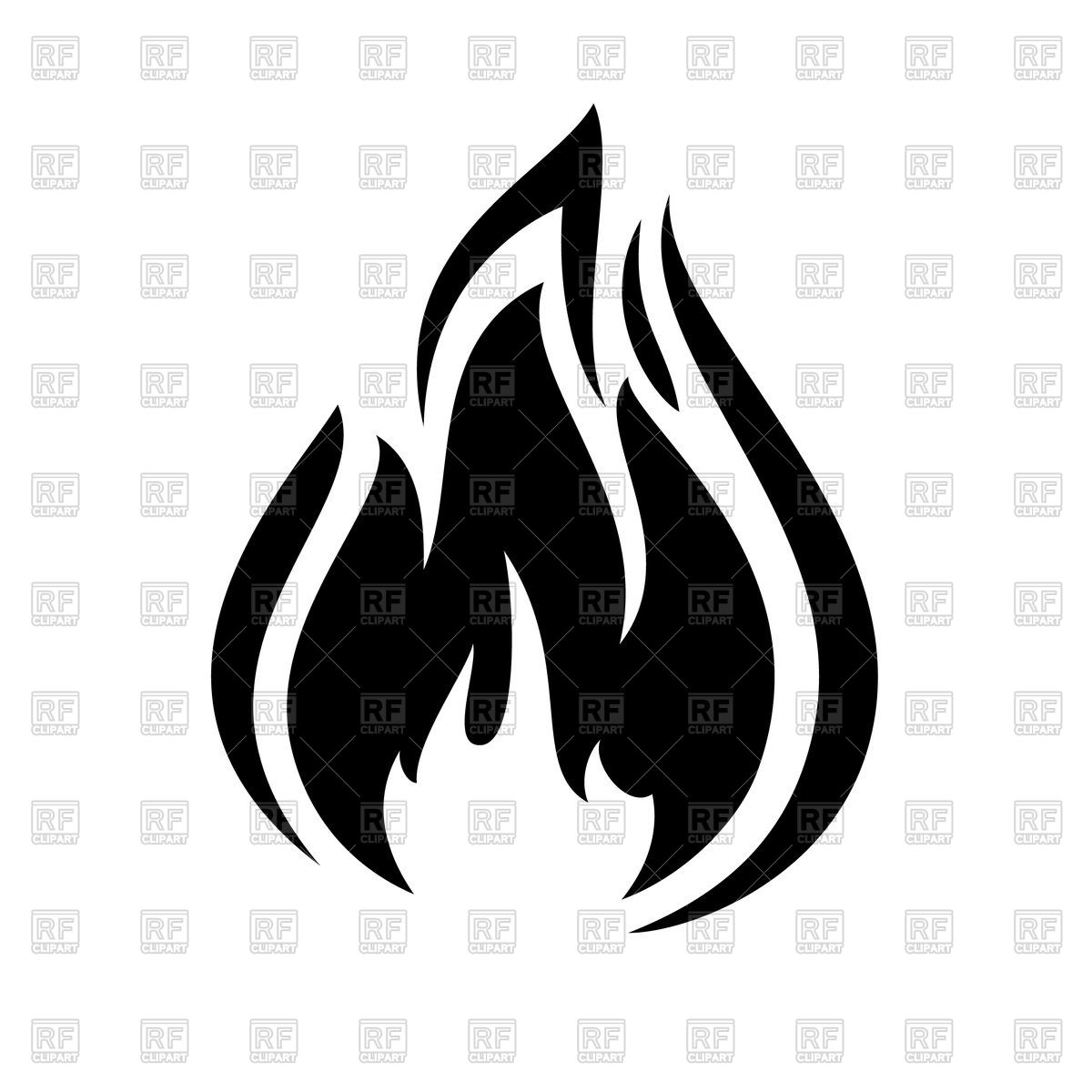 Fire flame icon Stock Vector Image.