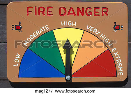 Picture of forest fire danger indicator dial mag1277.