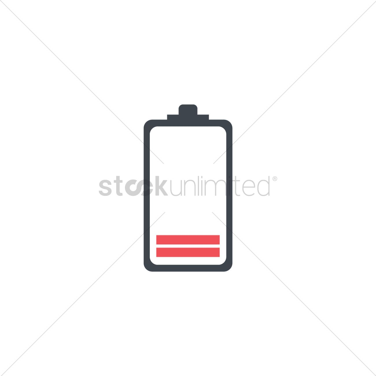 Red battery level indicator icon Vector Image.