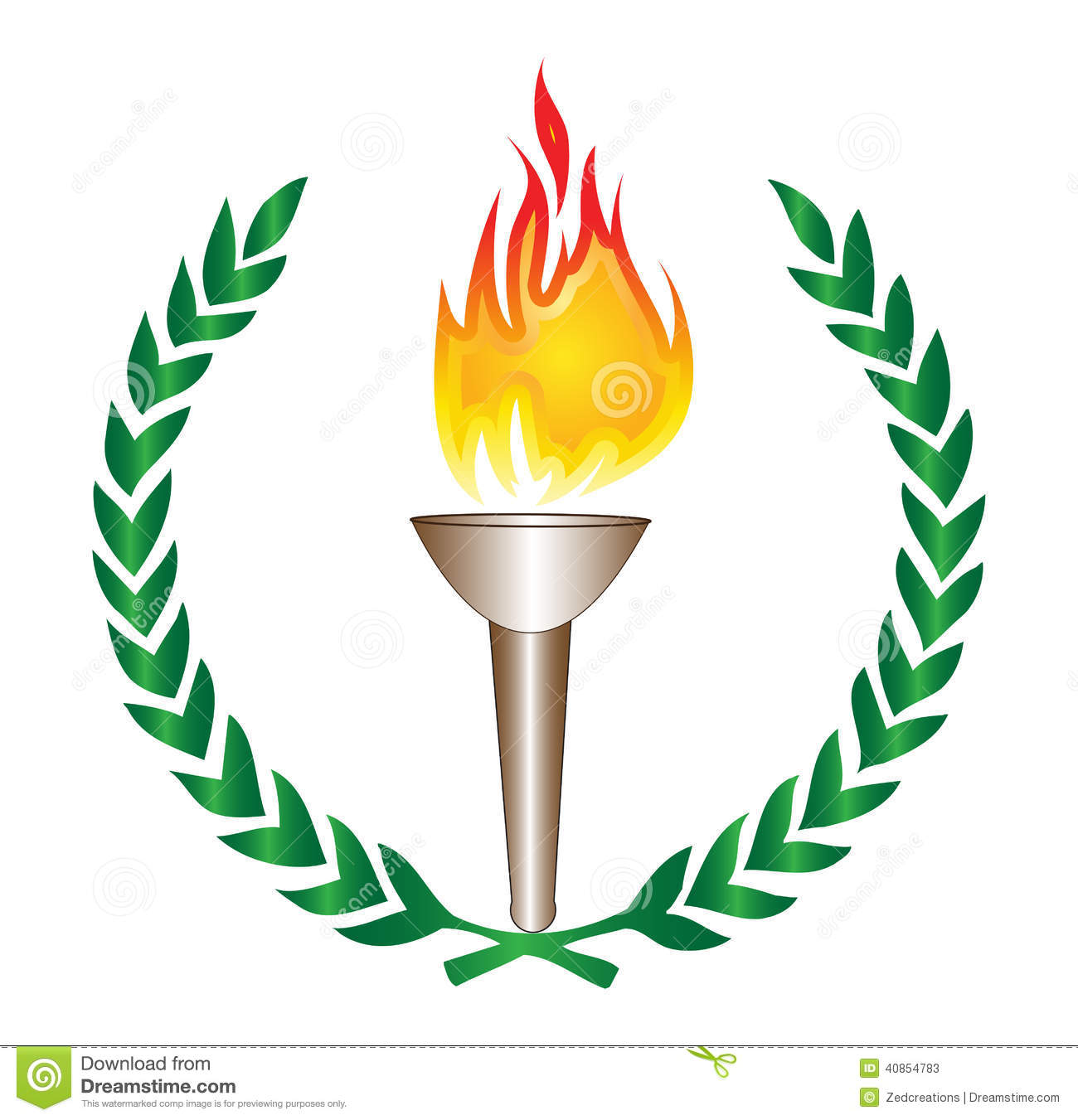 Fire lamp clipart.