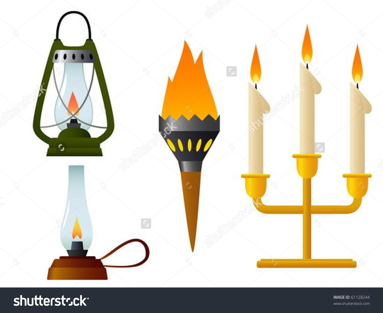 Light a Fire Clip Art.
