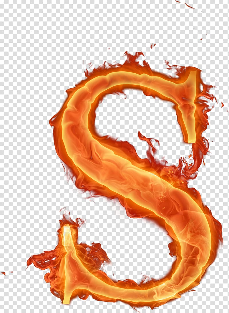 Fire Letter , burn transparent background PNG clipart.