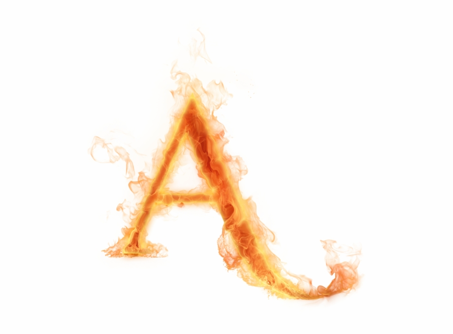Letter Alphabet A Fire Heat Png Image With.