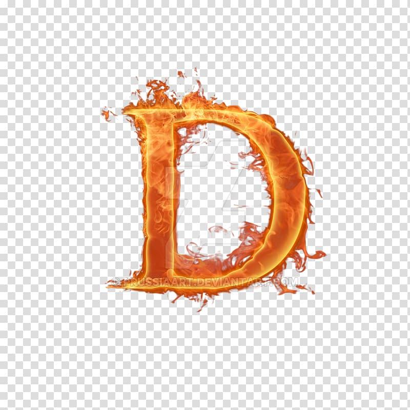 Burning letter D , Letter Alphabet Em Fire, Flame letter.