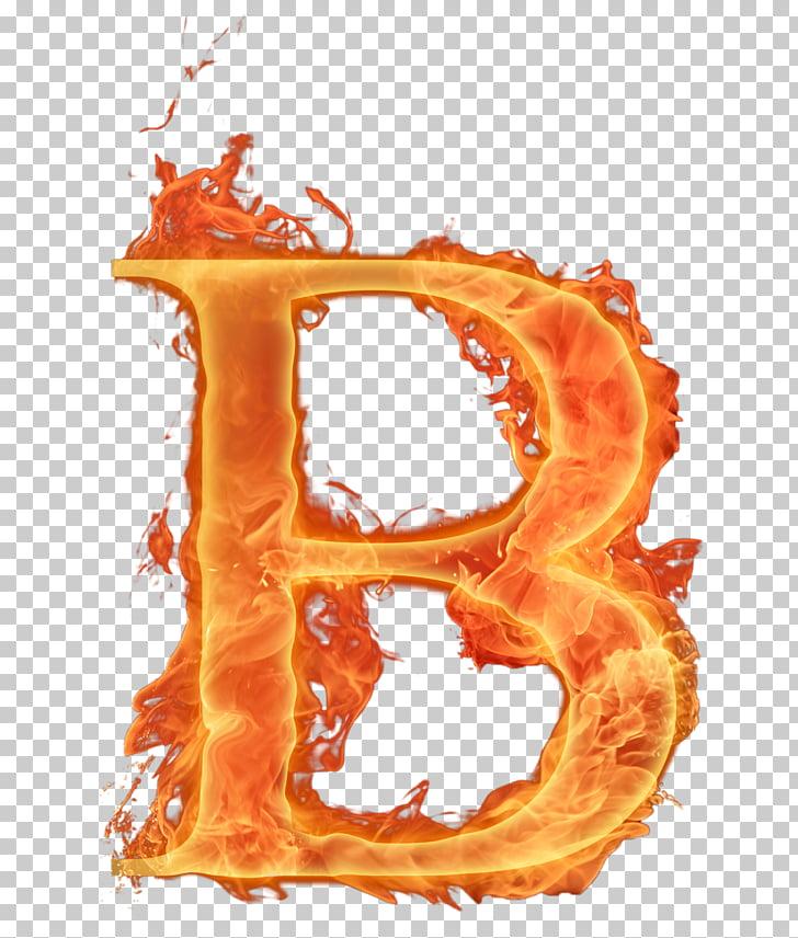Alphabet Letter Fire Font, Flame letter, flaming letter B.