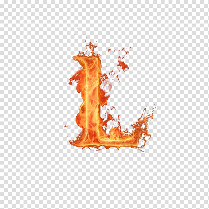 Letter Fire Alphabet Flame, burn transparent background PNG.