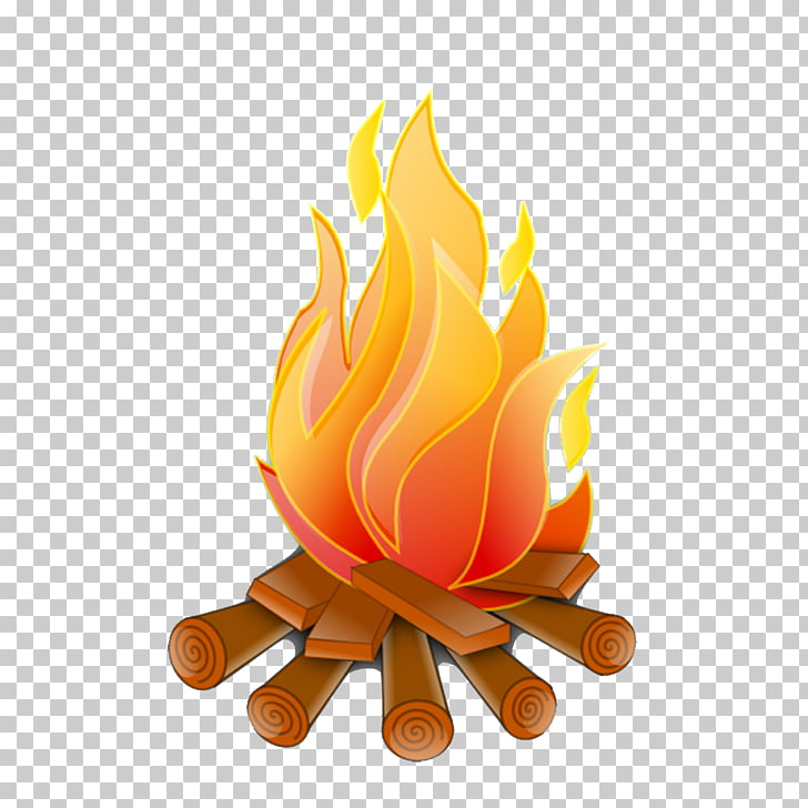 Campfire Firelog Combustion , fire PNG clipart.