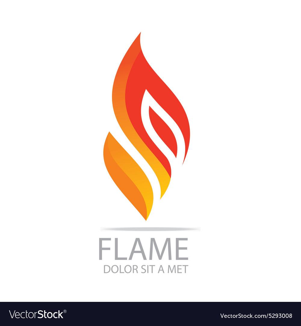 Flame fire design luxury logo design.