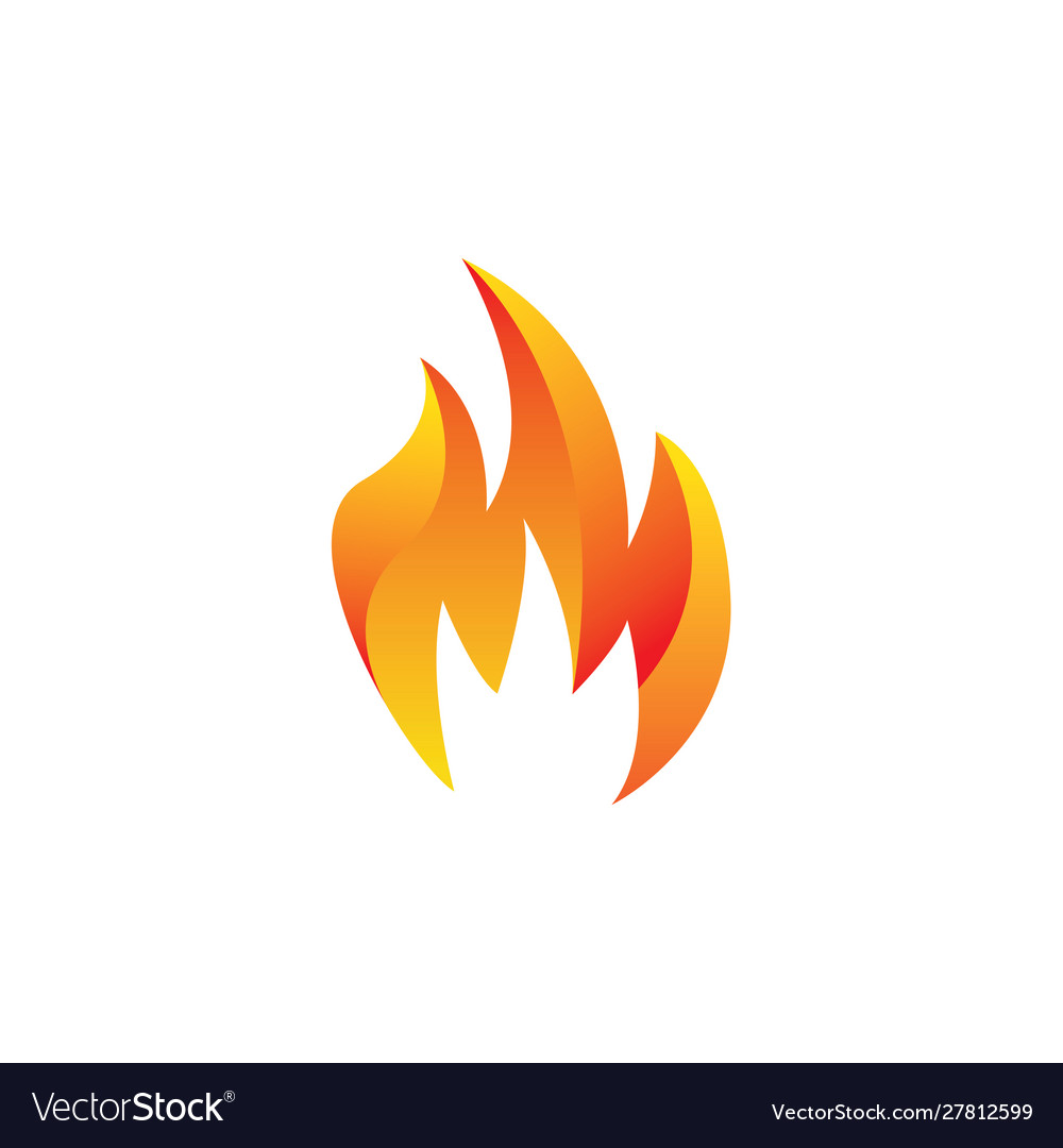 Design fire logo with 3d effects.