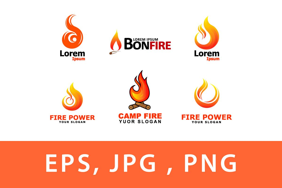 fire logo collection.