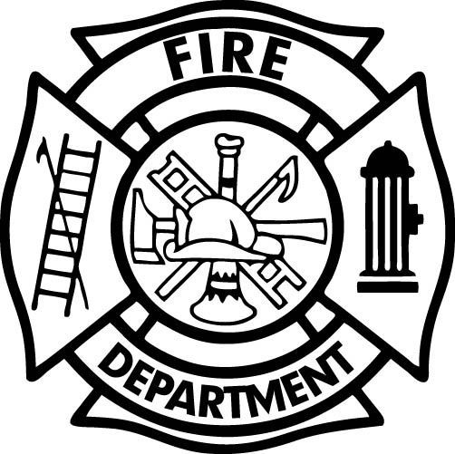 Firefighter Maltese Cross Vector Art.