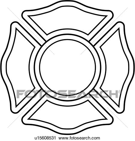 , cross, department, emergency, emergency services, engine, fire, fire  department, fire dept, maltese, ornaments, service, ornament, badges,  Clipart.