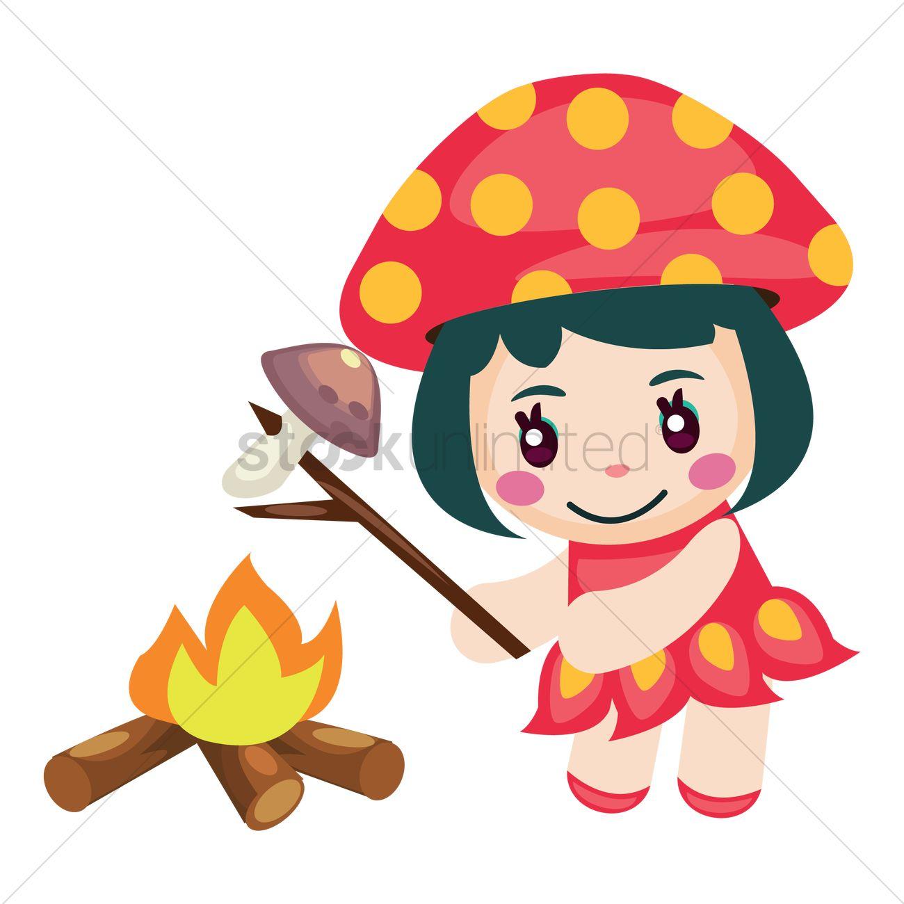Fire mushroom clipart #16